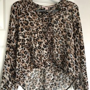 Forever 21 Contemporary Cheetah Print Blouse